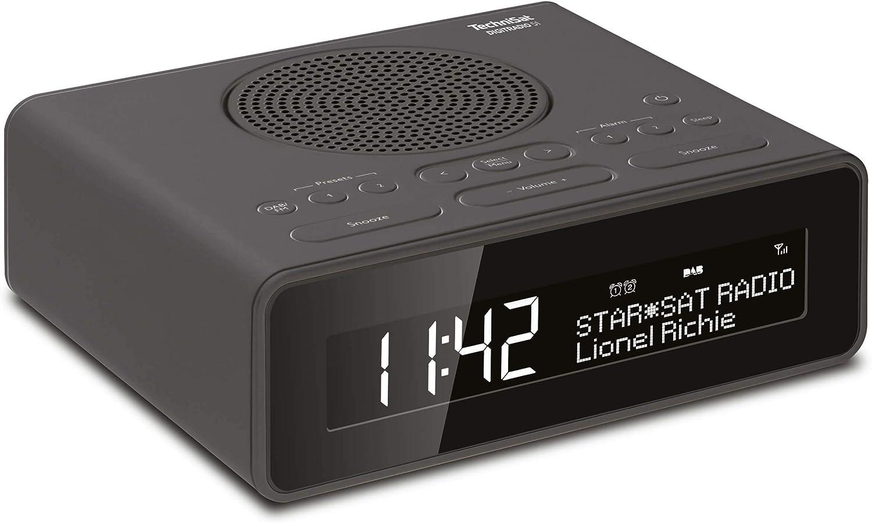 Technisat Digitradio 51 Dab Radiowecker Dab Ukw Uhrenradio Wecker Mit Zwei Einstellbaren Weckzeiten Snooze Funktion Sleeptimer Dimmbares Display Kopfhöreranschluss Schwarz Heimkino Tv Video