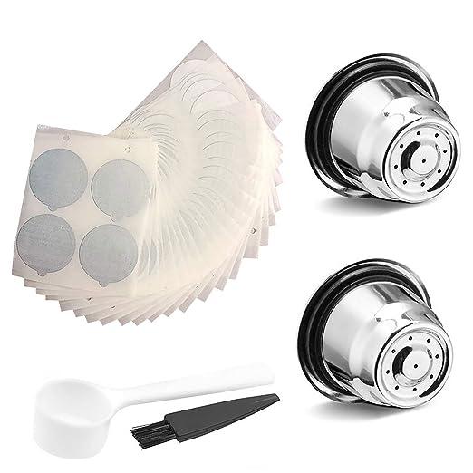 Siebwinn - 2 filtros de cápsula con cepillo de cuchara + 100 ...