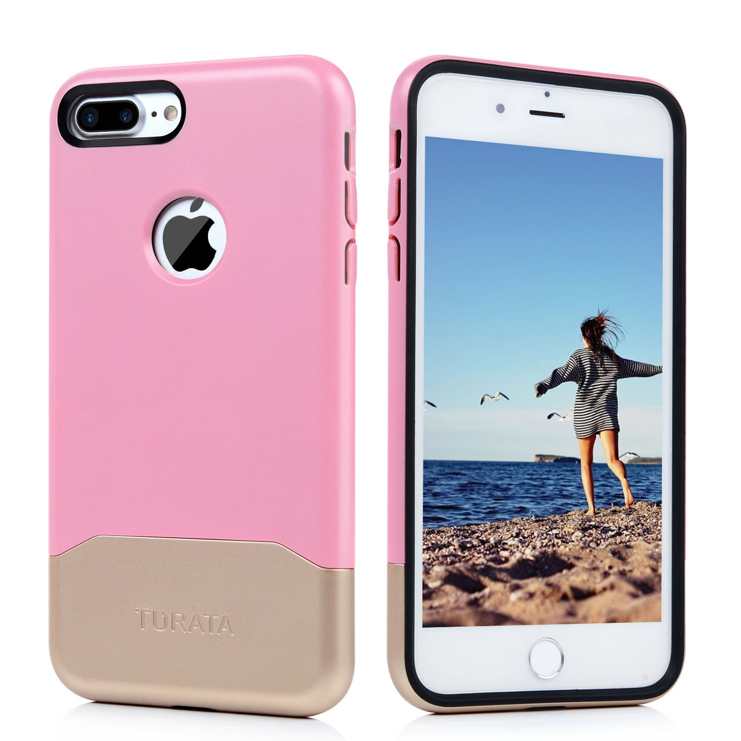 brand new f7f00 cbe05 Chnano iPhone 7 Plus Case Dual Layer Case i7 Plus Cover Shock Absorption  Heavy Duty Protective Hybrid Armor Skin for iPhone 7 Plus 5.5 inch (Rose ...