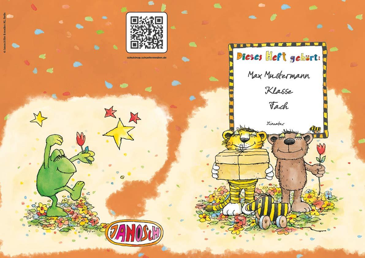 24 lustige JANOSCH-Schulhefte A4, »Geheimnisvolles »Geheimnisvolles »Geheimnisvolles Geschenk«, Lineatur 1, Frühlingsgrün, personalisierbar, 32 Seiten B076LVMX4N | Deutschland Frankfurt  | Ideales Geschenk für alle Gelegenheiten  | Günstig  fdc401