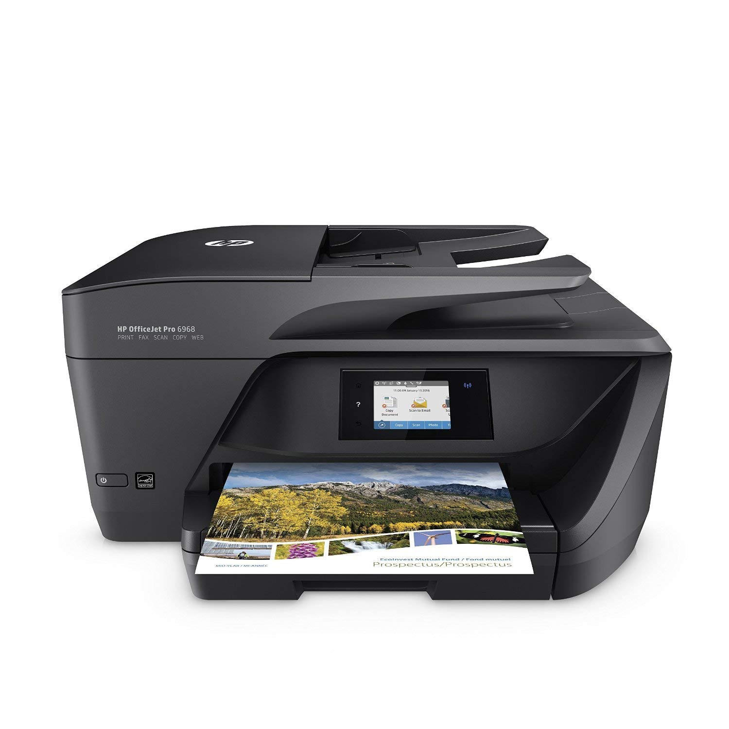 HP OfficeJet Pro 6968 All-in-One Wireless Printer with Mobile Printing, Instant Ink ready (T0F28A) (Renewed)