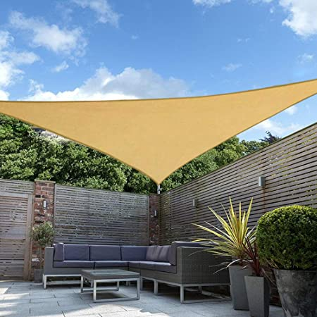 Amazon Com Shade Beyond 15 X15 X21 Sun Shade Sail Triangle Sail Shade Canopy For Patio Lawn Garden Garden Outdoor