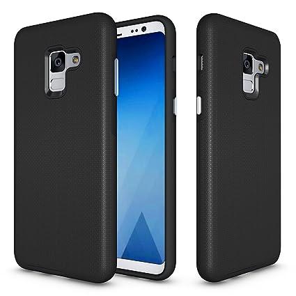brand new 6229f 04cfb Amazon.com: Galaxy A5 2018/A8 2018 Anti-skid Case, ZUERCONG Slim ...