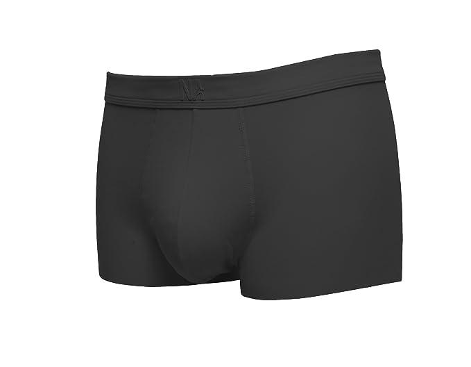 80bbd2164e94 Nasse Mens Soft Boxer Briefs Seamless Free-Cut Comfort Underwear (M, Black)