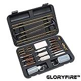 GLORYFIRE Universal Gun Cleaning Kit Hunting Rifle Handgun Shot Gun Cleaning Kit for All Guns with Case Travel Size Portable Metal Brushes (Color: Z-BLACK)