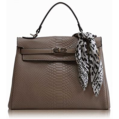 38f6235156 Xardi London Nude Designer Women Handbag Office Tote Snake Faux Leather  Ladies Top Handle Bags UK