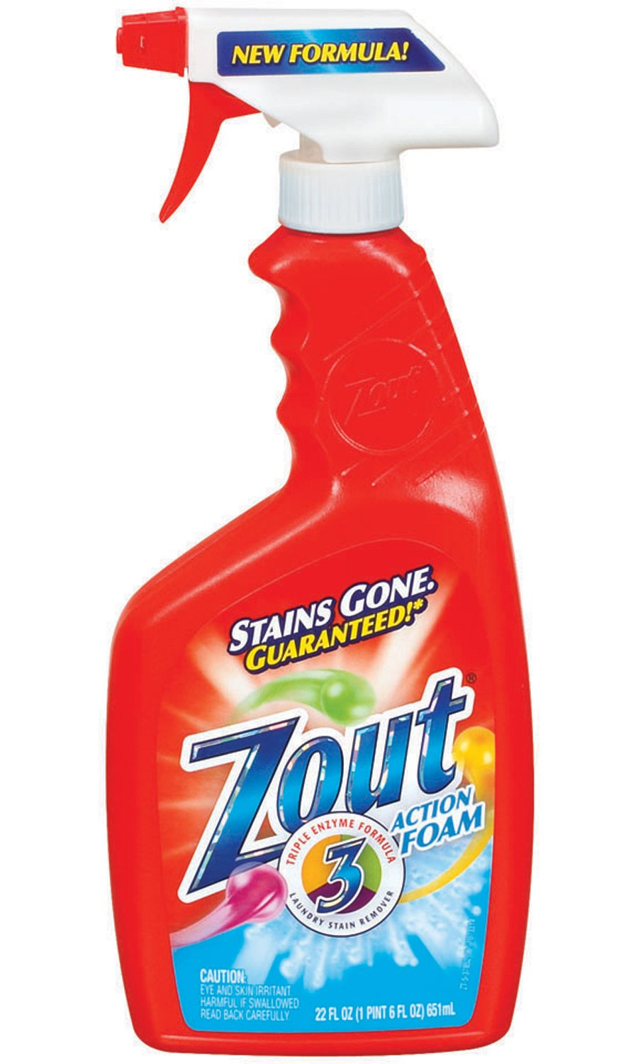Dial 1071425 Zout Foam Stain Remover, 22oz Bottle (Pack of 12)