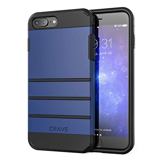outlet store 1c39b 163bf iPhone 8 Plus Case, iPhone 7 Plus Case, Crave Strong Guard Protection  Series Case for Apple iPhone 8/7 Plus (5.5 Inch) - Navy
