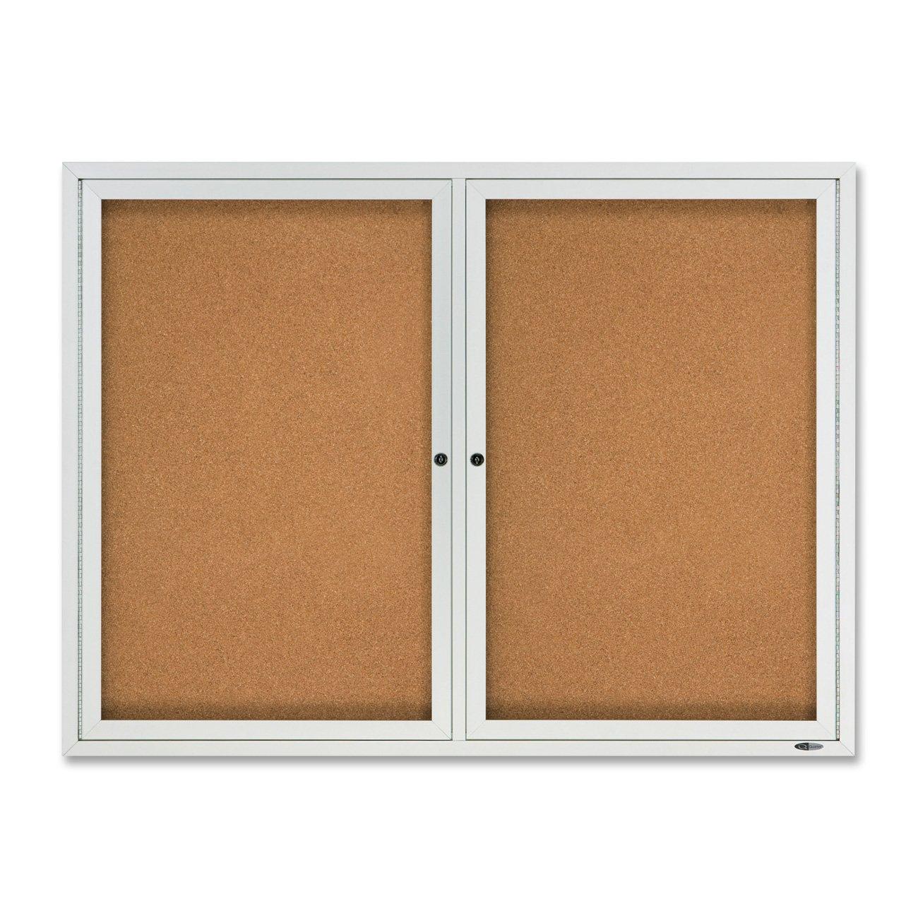 Quartet Outdoor Cork Bulletin Board, Enclosed, 4 x 3 Feet, Aluminum Frame (2124) by Quartet