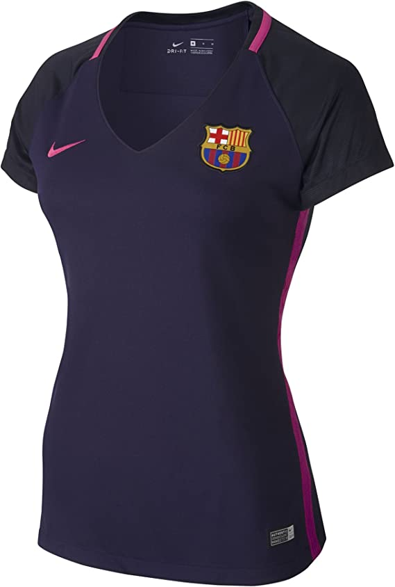 NIKE FC Barcelona W SS AW Stadium JSY Camiseta de Manga Corta, Mujer: Amazon.es: Deportes y aire libre