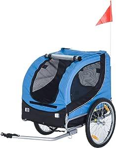 Remolque de la marca PawHut® para bicicletas, para llevar el perro ...