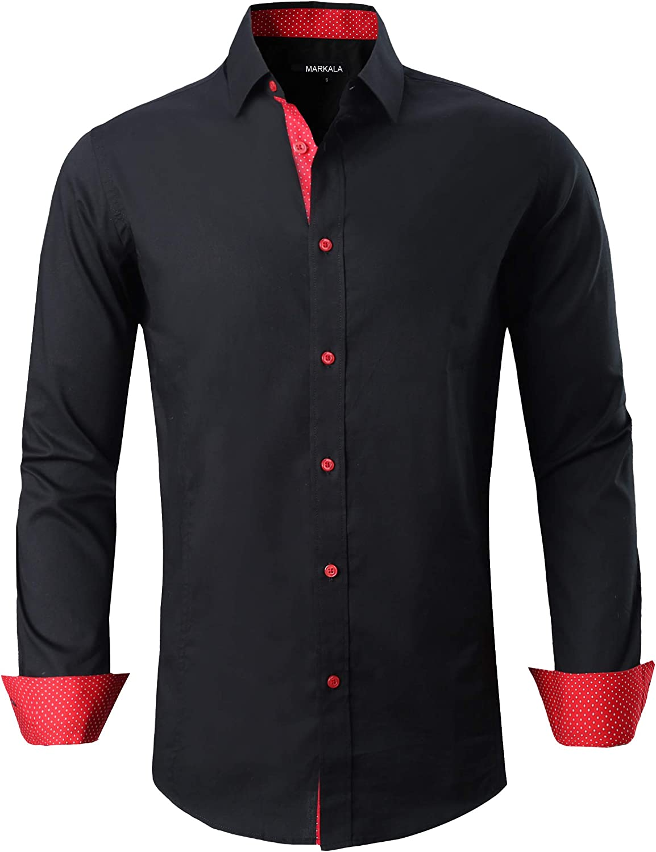 Markalar Mens Casual Button Down Shirts Regular Fit Long Sleeve Cotton  Dress at Amazon Men's Clothing store