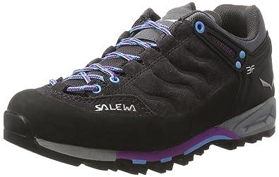 Salewa Damen WS MTN Trainer Gore-Tex Trekking-& Wanderhalbschuhe, Mehrfarbig (Premium Navy/Subtle Green), 39 EU