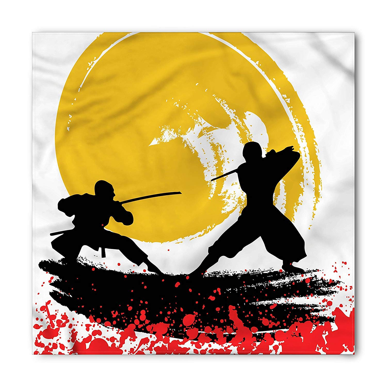 Japanese Bandana, Watercolor Style Ninja, Unisex Bandana ...
