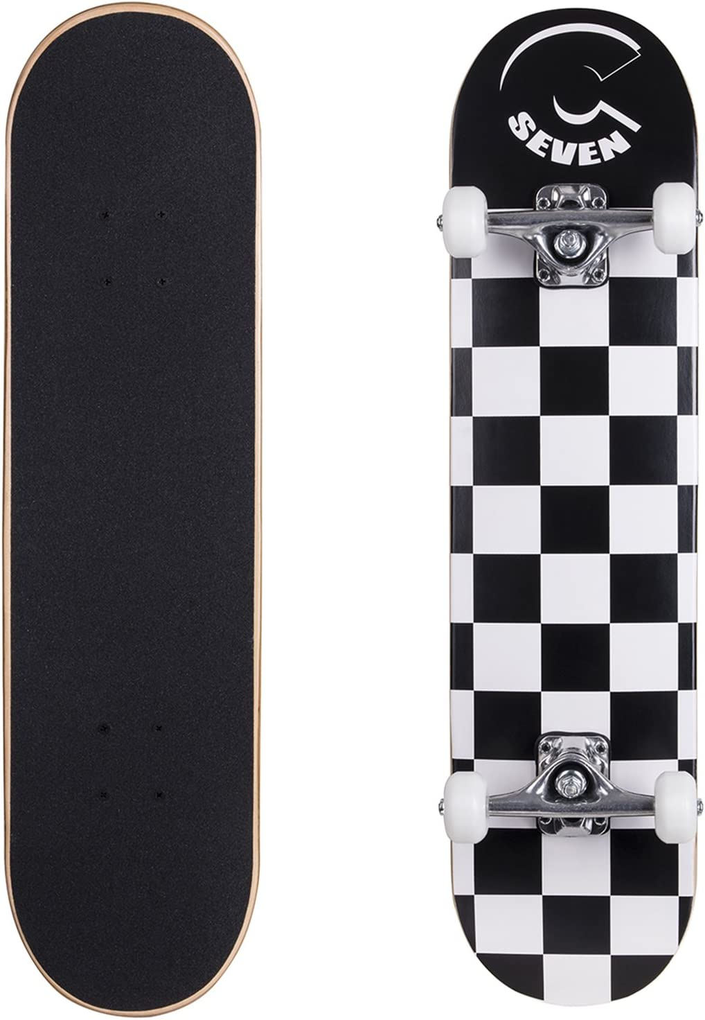 """Cal 7 Yellow 4/"""" Skateboard Trucks with 1/"""" Yellow Hardware and 1//8/"""" Riser Pads"""