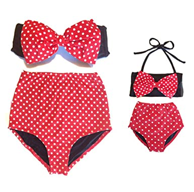 84429abda1d39 Mommy and Me Swimsuit Family Matching Mom Girls Bathing Suit Swimwear  Bikini (S