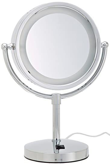 Amazon Com Jerdon Hl745co 8 5 Inch Halo Lighted Vanity Mirror With