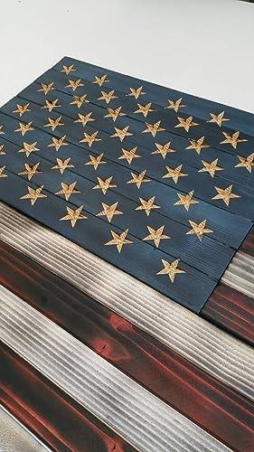 Amazon American Flag Rustic Wood 36 X 19 Handmade