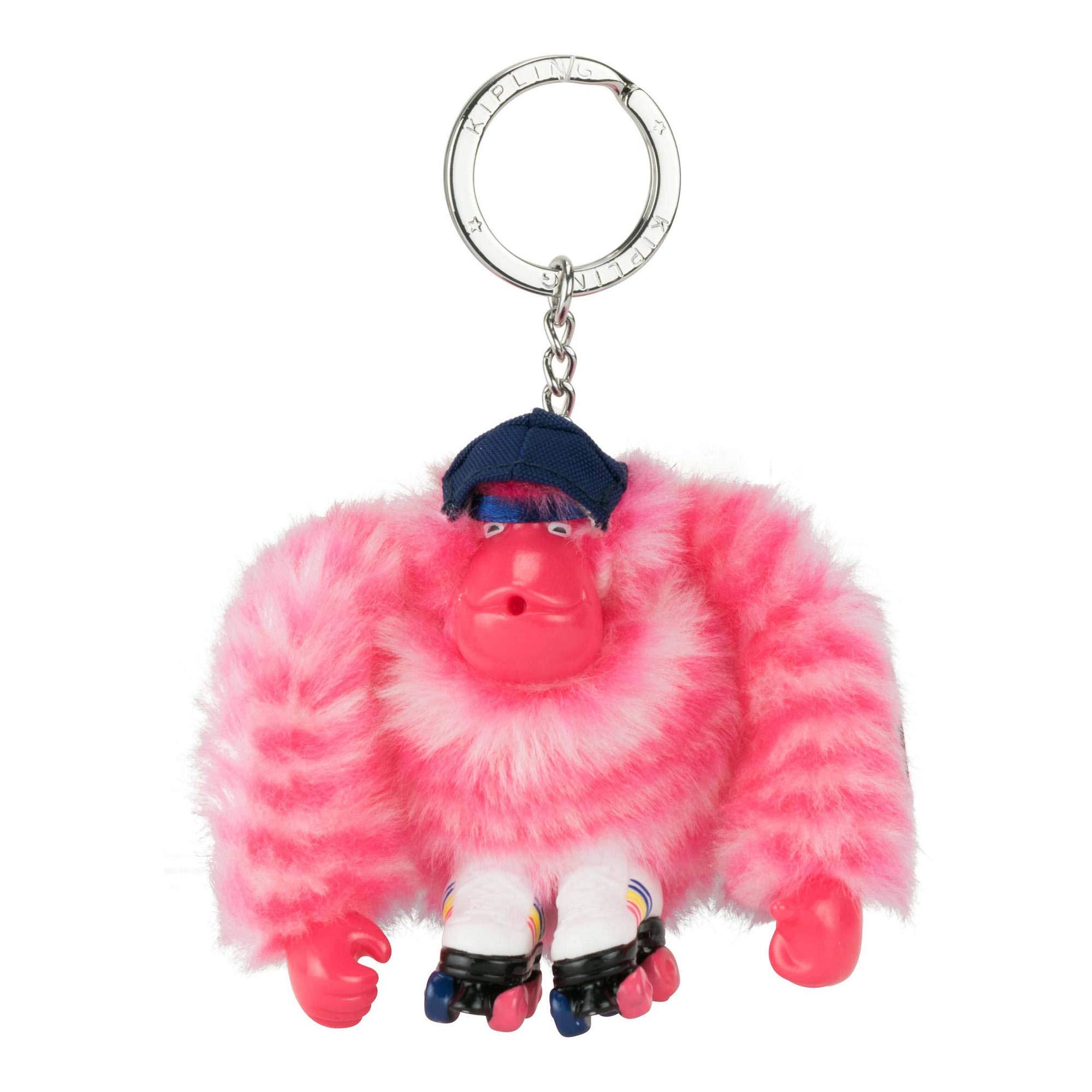 Kipling Women's Monkey Keychain One Size Pink Stripes
