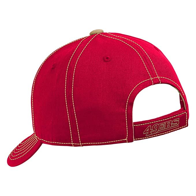 super popular ac378 3457b wholesale amazon san francisco 49ers nfl youth adjustable velcro with  contrast stitching cap sports outdoors 64395