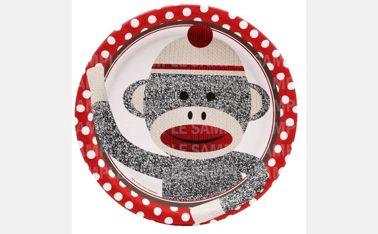 Phenomenal Amazon Com Sock Monkey Birthday Edible Image Photo 8 Round Cake Funny Birthday Cards Online Barepcheapnameinfo