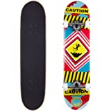 Cal 7 Complete Skateboard, Popsicle Double Kicktail Maple Deck, 7.5 x 31 inches, Perfect for All Skate Styles in Graphic Designs