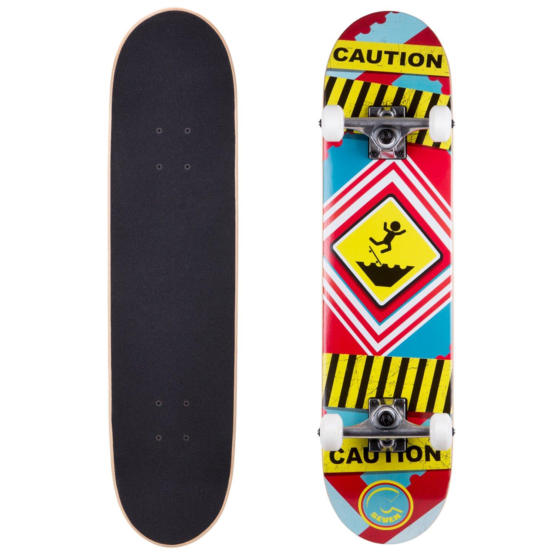 Cal 7 Caution 7.5 Complete Skateboard, 52x31 99A PU