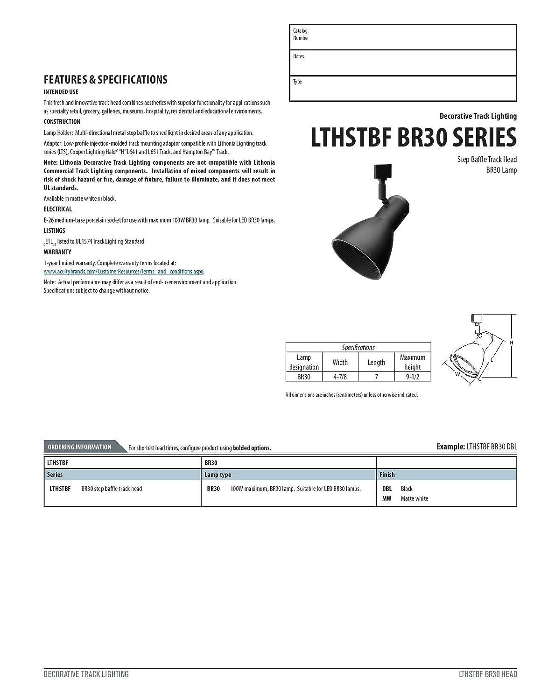 Lithonia Lighting LTHSTBF BR30 MW M4 Step Baffle Track Head, Matte White, -  - Amazon.com