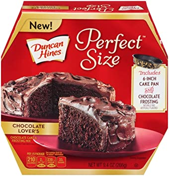Amazon.com : Duncan Hines Perfect Size Cake Mix, Chocolate Lover's ...