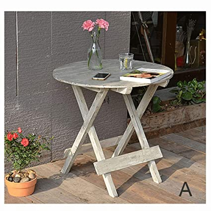 1a6d08ffe914d LRZS American Country Small Round Table Flower Stand Retro Simple Solid  Wood Chair Succulent Small Flower