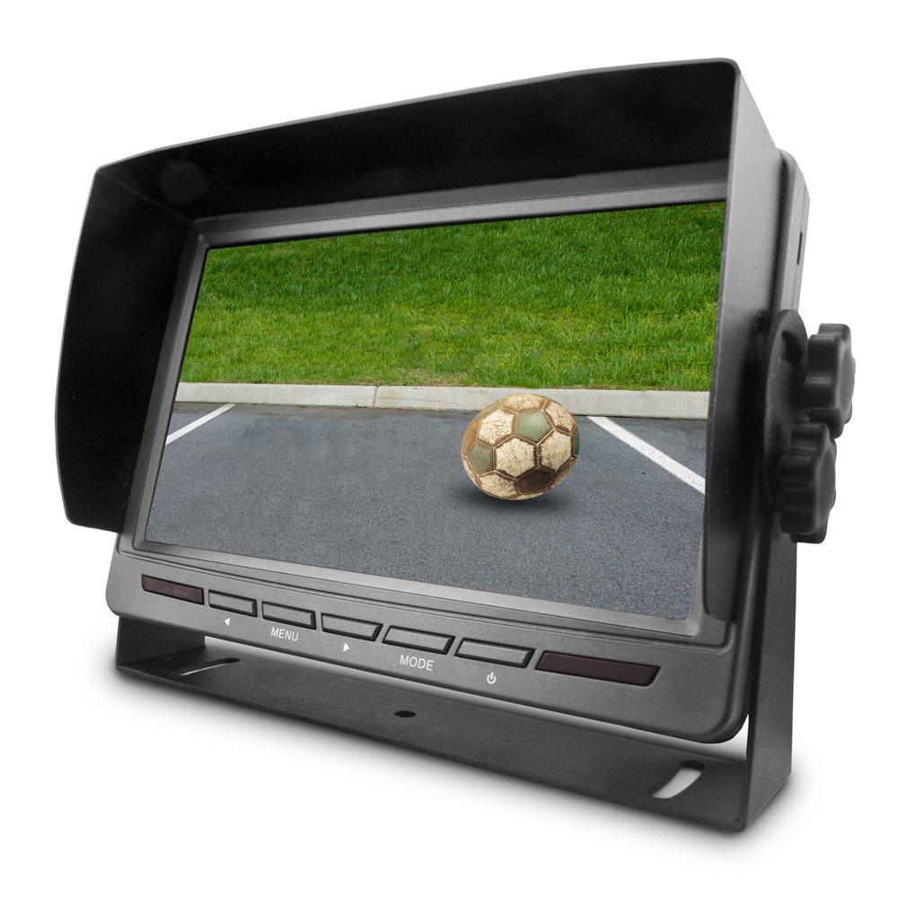Carmedien Video R/ückfahrsystem CM-RFSN2 mit Distanzlinien 12V 24V schwarz//silber 1510