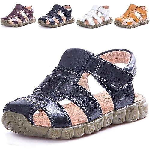 dfe85008d8a2 LONSOEN Leather Outdoor Sport Sandals