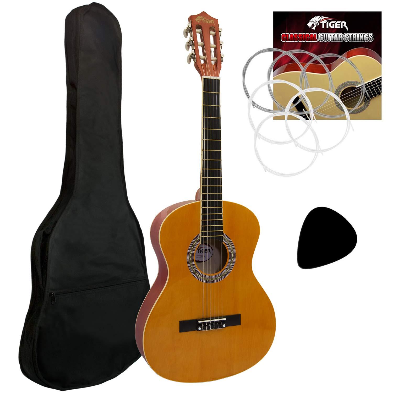 NAVARRA NV14 Classical Guitar 3//4 black with cream-colored binding incl Gig Bag