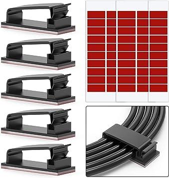 Kabelclip selbstklebend 3M Kabelhalter Befestigungsclip schwarz weiß Halterung