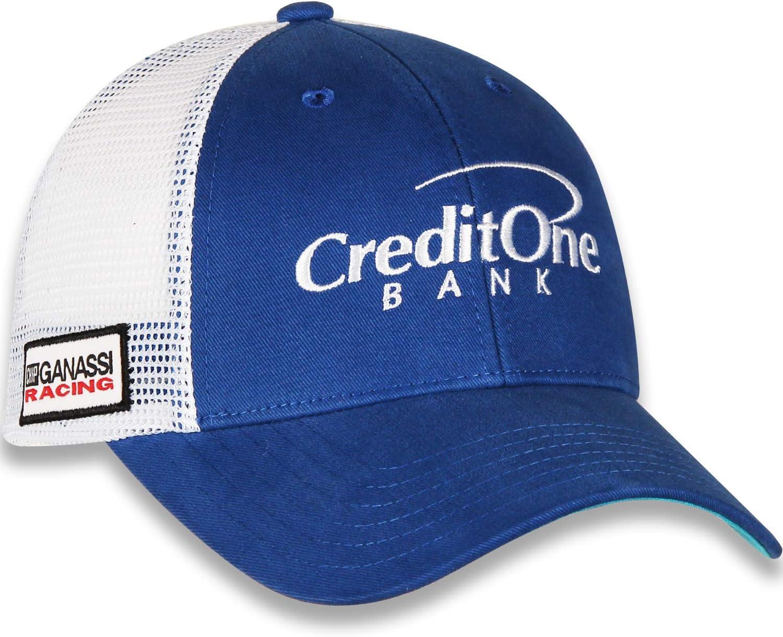 Checkered Flag 2019 NASCAR Vintage Draft Sponsor Trucker Mesh Adjustable Hat Cap