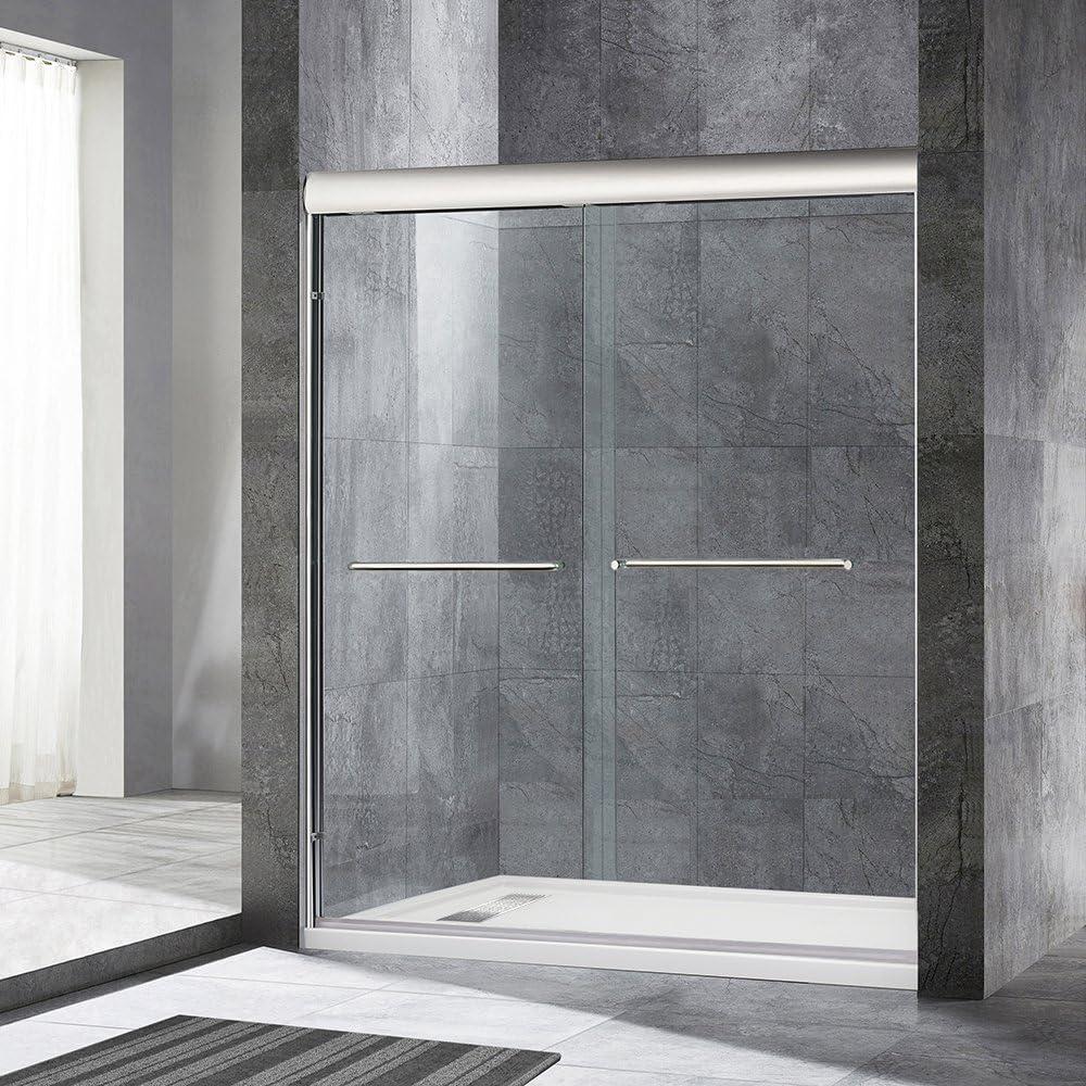 Woodbridge Semi Framed Bypass Sliding Shower Door 56 To 60 By 72 Chrome Finish Msde6072 C