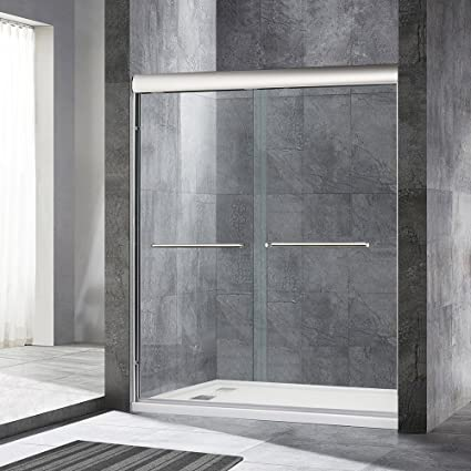 Woodbridge 60 X 72 Double Sliding Frameless Shower Door 56 To 60