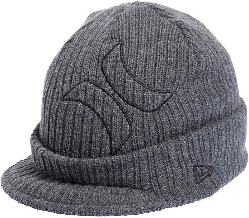 fe576806695 Hurley Frontier New Era Peaked Beanie Hat - Graphite Grey  Amazon.co.uk   Clothing