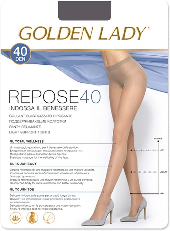 300 g GOLDEN LADY Repose Repose Medias 40 Den Negro Talla XL 36 gr