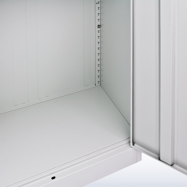 DEMA Metall Leichtbauschrank Eco 4 Böden 180x81x39: Amazon.de ...
