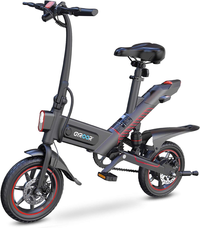 Gyroor C3 450W 18.6MPH Electric Bike with Dual Disc Braking