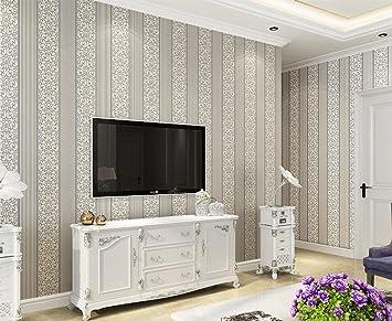 KUKI Wohnzimmer TV Hintergrund Wand Vertikale Streifen Non Woven Ebene  Tapete Flur Schlafzimmer Dekoration Tapete