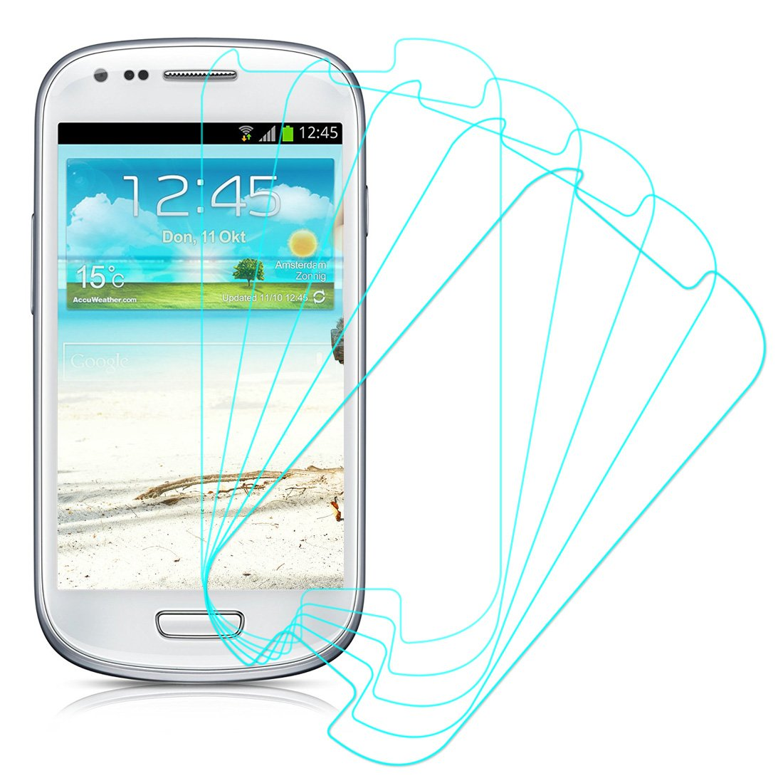 5 Pack of Clear Screen Protectors for Samsung Galaxy S III S3 Mini I8190 60%OFF