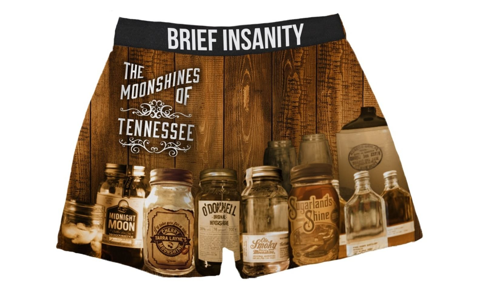 Brief Insanity Moonshines of Tennessee Silky Funny Boxer Shorts Gifts for Men