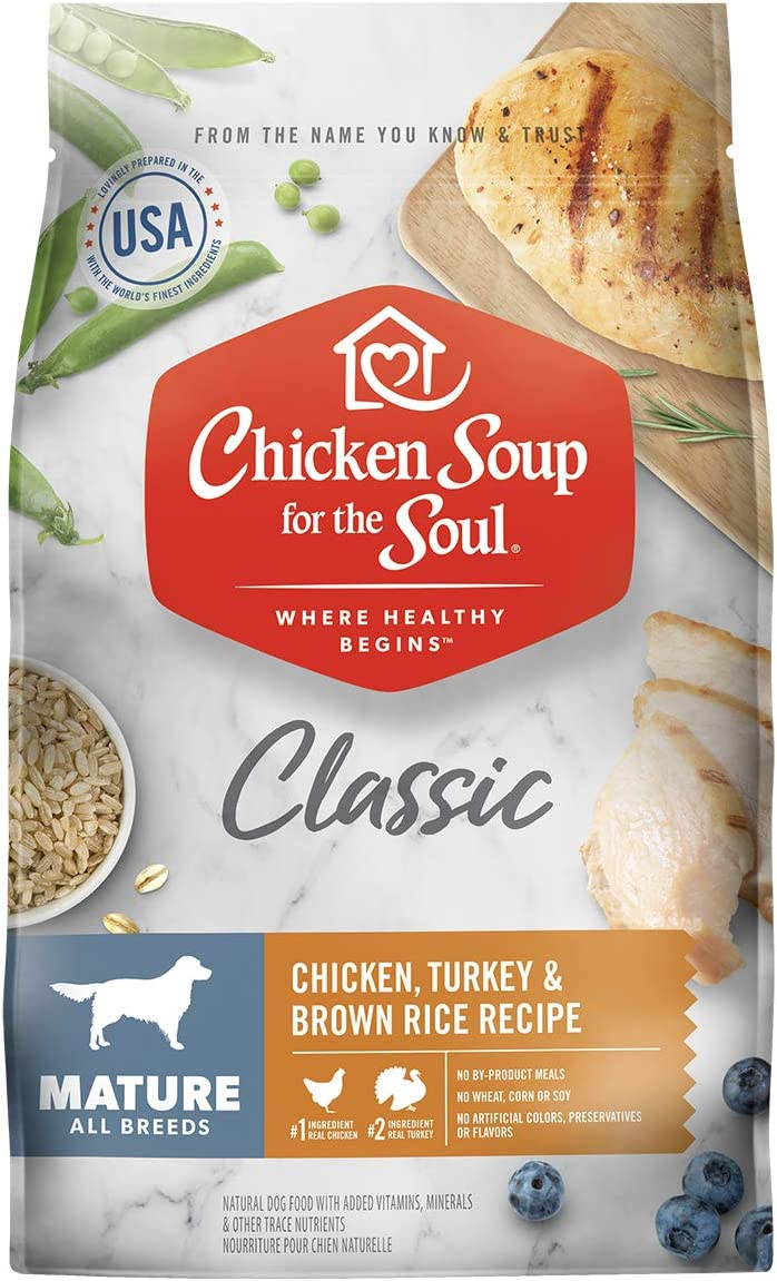 Chicken Soup for the Soul Mature Dry Dog Food - Chicken, Turkey & Brown Rice Recipe