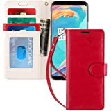 FYY Luxury PU Leather Wallet Case for Samsung Galaxy S9 Plus, [Kickstand Feature] Flip Phone Case Protective Cover with [Card