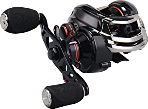KastKing Royale Legend/Whitemax Low Profile Baitcasting Fishing Reel – 11 +1 Shielded Bearings, 17.5 Lb Carbon Fiber Drag