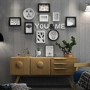 Unbekannt Dekorrahmen Foto Wandrahmen Wand Moderne Minimalistische  Dekorative Kombination Wandrahmen Kreative Wohnzimmer Persönlichkeit  Dekorative Wand (