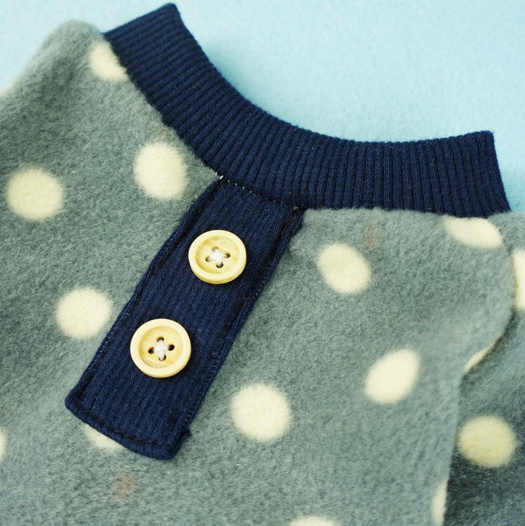Fitwarm Adorable Polka Dots Fleece Dog Pajamas Pet Coats Soft Pjs Apparel