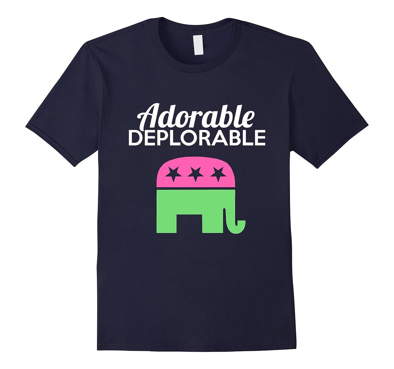 Adorable Deplorable Shirt - Funny Republican Elephant Shirts-TD